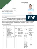 Cirriculum Vitae(CV)