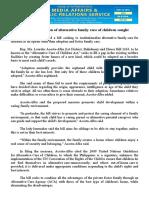 aug15.2016 bInstitutionalization of alternative family care of children sought