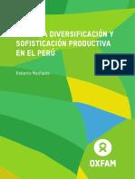 Oxfam_Diversificacion y sofosticación productiva en el Perú