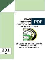 Plan Institucional de Gestión de Riesgos Para El Colegio de Bachillerato Técnico Fiscal