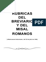 Rubricas del Breviario y del misal romanos (1960)