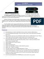 VE-30RFM HDMI to RF Matrix Extender Catalog(en)