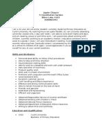 resume of jayde choyce