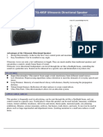 TG-40SP Ultrasonic Directional Speaker