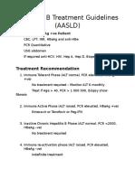 Hepatitis B Treatment Guidelines