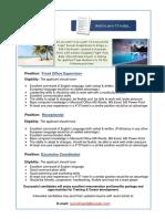Job Vacancies at Kuredu -FO150816
