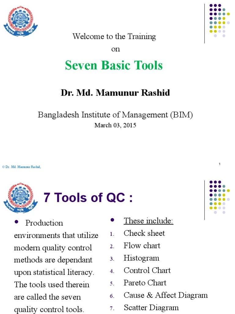 seven basic tools of tqm conceptual model scientific modeling