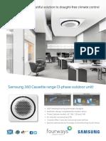 Samsung 360 Cassette (3 Phase Outdoor Unit)