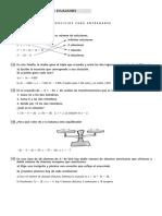 Ecuaciones. Sist de Ecuaciones