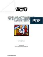 Shift Work Guidelines