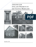 Design Guidelines for historic Sites and Districts in Montgomery County, Maryland (September, 2008)