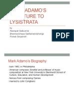 Mark Adamo's Overture to Lysistrata