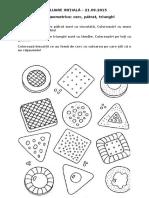 Fisa de lucru - forme geometrice