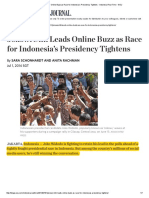 1 July Jokowi Still Leads Online Buzz as Race for Indonesia's Presidency Tightens - Indonesia Real Time - WSJ