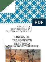 Analisis de Contingencia en Sistemas Electricos