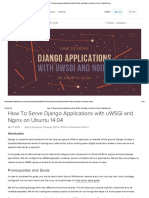 How to Serve Django Applications With UWSGI and Nginx on Ubuntu 14