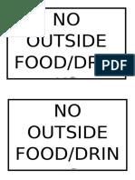 No Outside Food