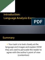 Introduction Language Analysis Eassy