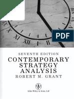 Contemporary Strategic Analysis - Robert M Grant 7th Edition