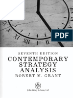 Contemporary Strategic Analysis - Robert M Grant 7th Edition