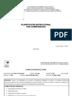 PLANIFICACIÓN INSTRUCCIONAL POR COMPETENCIAS