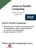 Parallel computing engineering