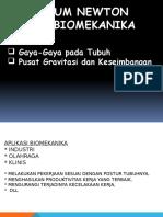 Hukum Newton I, II, III Dan Biomekanika