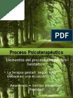 Proceso Psicoterapéutico gestaltico