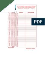 Daftar Jumlah Uang Wakaf Langgar Mustaqmirul Amalissabiqin Bulan Ramadhan Tahun 1436 h