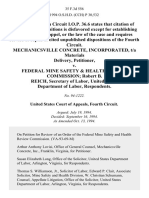 Mechanicsville Concrete, Incorporated, T/a Materials Delivery v. Federal Mine Safety & Health Review Commission Robert B. Reich, Secretary of Labor, United States Department of Labor, 35 F.3d 556, 4th Cir. (1994)