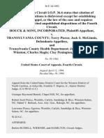 Houck & Sons, Incorporated v. Transylvania County Terry Pierce Jack S. McGinnis and Transylvania County Health Department Joe Gentry John Winston Charles Slagle Clay Penington, 36 F.3d 1092, 4th Cir. (1994)