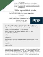 United States v. Tarik Coefield, 37 F.3d 1496, 4th Cir. (1994)