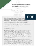 United States v. Van Scott Keith, 42 F.3d 234, 4th Cir. (1994)