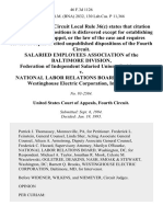 Salaried Employees Association of the Baltimore Division, Federation of Independent Salaried Unions v. National Labor Relations Board, Westinghouse Electric Corporation, Intervenor, 46 F.3d 1126, 4th Cir. (1995)