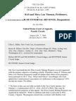James P. Thomas and Mary Lou Thomas v. Commissioner of Internal Revenue, 792 F.2d 1256, 4th Cir. (1986)