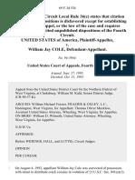 United States v. William Jay Cole, 69 F.3d 534, 4th Cir. (1995)