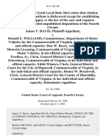 James T. Davis v. Donald E. Williams, Commissioner, Department of Motor Vehicles for the Commonwealth of Virginia, in His Individual and Official Capacity Dan W. Byers, Administrator, Motorist Licensing, Commonwealth of Virginia, Department of Motor Vehicles, in His Official Capacity Harvie L. Fowlkes, Jr., Clerk, General District Court for the City of Petersburg, Commonwealth of Virginia, in His Individual and Official Capacity Edith Winters, Clerk, General District Court for the City of Hopewell, Commonwealth of Virginia, in Her Individual and Official Capacity Donna W. Brockwell, Clerk, General District Court for the County of Dinwiddie, Commonwealth of Virginia, in Her Individual and Official Capacity, 81 F.3d 149, 4th Cir. (1996)