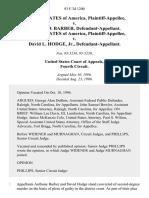 United States v. Anthony D. Barber, United States of America v. David L. Hodge, Jr., 93 F.3d 1200, 4th Cir. (1996)