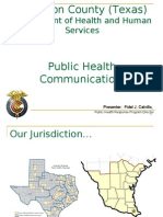 Presenter-Cameron County-Public Health Bi National Response
