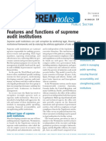 Features and functions of supreme audit institutions (World Bank)