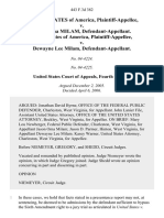 United States v. Jason Oma Milam, United States of America v. Dewayne Lee Milam, 443 F.3d 382, 4th Cir. (2006)