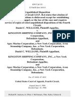 Daniel C. Williams v. Kingston Shipping Company, Inc., a New York Corporation, and Apex Marine Corporation, a New York Corporation, Avon Steamship Company, Inc., a New York Corporation, Daniel C. Williams v. Kingston Shipping Company, Inc., a New York Corporation, and Apex Marine Corporation, a New York Corporation, Avon Steamship Company, Inc., a New York Corporation, 859 F.2d 151, 4th Cir. (1988)
