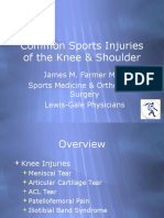 Common Sports Injuries of Knee and Shoulder for Www Page
