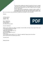 Order Letter