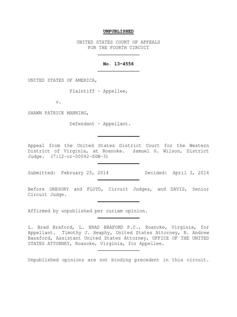 United states v shawn manning 4th cir 2014 united states shawn manning 4th cir 2014 united states federal sentencing guidelines larceny altavistaventures Choice Image