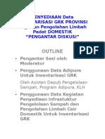 Pengantar Penyediaan Data Provinsi - Bu Gelang ITB - 3 April 2014