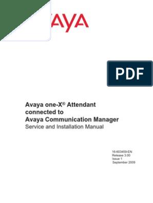 Avaya One-X Attendant | Web Server | Microsoft Exchange Server