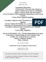 Calvin, Buie v. Naviera Chilena Del Pacifico, S. A., Naviera Chilena Del Pacifico, S.A., as Owner of the M/v Alborada, for Exoneration From or Limitation of Liability Naviera Chilena Del Pacifico, S.A., Calvin, Buie v. McAllister Bros., Inc. Norfolk Shipbuilding & Drydock Corporation Chicago Bridge & Iron Company Otto Candies, Inc. United States of America James P. Williams Rodney White, 823 F.2d 546, 4th Cir. (1987)
