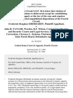 Frederick Douglass Eberhardt v. John B. Taylor, Warden, R.F. Wilson, Central Classification and Records