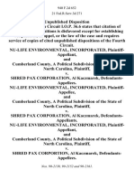 Nu-Life Environmental, Incorporated, and Cumberland County, a Political Subdivision of the State of North Carolina v. Shred Pax Corporation, Al Kaczmarek, Nu-Life Environmental, Incorporated, and Cumberland County, a Political Subdivision of the State of North Carolina v. Shred Pax Corporation, Al Kaczmarek, Nu-Life Environmental, Incorporated, and Cumberland County, a Political Subdivision of the State of North Carolina v. Shred Pax Corportion, Al Kaczmarek, 940 F.2d 652, 4th Cir. (1991)